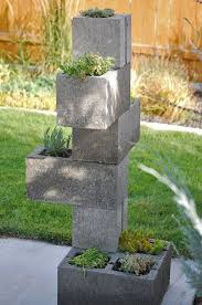 cinder block garden ideas furniture planters walls and decor diy