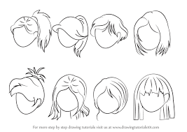 drawing step by step for beginners. Unique Step Learn Drawing Step By How To Draw Anime Hair Female  For Beginners R