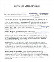 Commercial Lease Agreement Sample Inspiration Commercial Lease Agreement Beautiful Rental Template Doc Printable