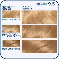 Neutral Hair Color Chart Clairol Nice N Easy 9 5 98 Natural Extra Light Neutral Blonde 1 Kit Pack Of 3 Packaging May Vary