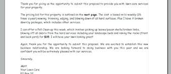 Lawn Care Bid Proposal Document Template Google Docs – Onbo Tenan