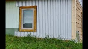 diy corrugated metal siding install icf off grid homestead regarding corrugated steel siding