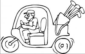 Small Picture Golf Cart Coloring Page Coloring Book