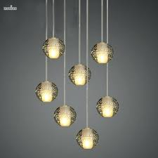 bubble crystal chandelier modern magic ball led crystal bubble glass pendant light for dining room globe