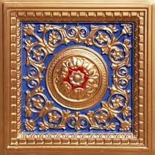 get ations ed decorative suspended ceiling tile 215 navy blue gold red 3 dimension