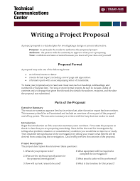 Technical Proposal Templates Informal Proposal Letter Example Writing A Project Proposal A