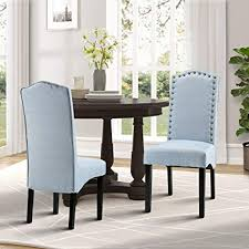 merax fabric accent chair dining room chair with solid wood legs set of 2