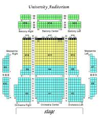 Dr Phillips Performing Arts Center Seating Chart University Auditorium Seating Chart