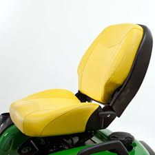 john deere 21 inch professional two piece seat with four bar suspension and slide bm25346
