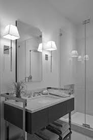 chrome bathroom sconces. Extraordinary Chrome Bathroom Sconces Candle Gray Wall And Sink Faucet Lamps Mirror Vase With Plant Towel Glass Shower E