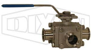3-way Multi-port Sanitary <b>Stainless</b> Steel <b>Ball Valve</b> | Dixon Valve US