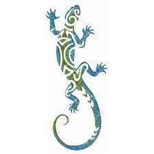 Salamander 01 Giant Glitter Tattoo Stencil