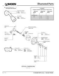 best moen single handle shower faucet parts 72 on bathroom faucets design planning with moen single