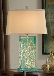aqua translucent table lamp by regina andrew