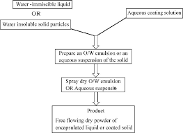 Flow Chart For Spray Dry Process Of Coating Liquid Or Solid