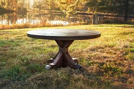 rustic dining table stunning room agreeable round rustic dining table stunning dining room decoration fo