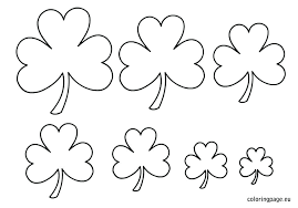Shamrock Coloring Page Shamrock Coloring Sheets Pictures Of Shamrocks To Color Pages Free
