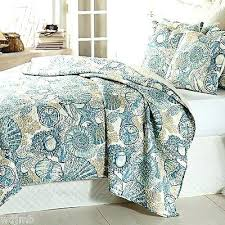 Seashell Quilts Queen Beach Inspired Comforter Sets Beach Life ... & Seashell Quilts Queen Beach Inspired Comforter Sets Beach Life Quilt Cover  Set Seashell Bedding Aqua Blue Adamdwight.com