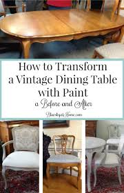 How To Transform A Vintage Dining Table With Paint Bluesky At Home