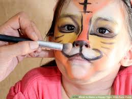image led make a happy tiger with face paint step 14