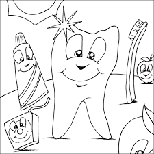 Small Picture Coloring Sheets Of Dentist Dental Coloring Printable 3641