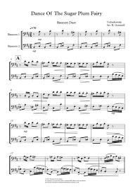 dance of the sugar plum fairy sheet music download dance of the sugar plum fairy bassoon duet sheet music by