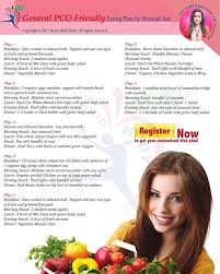 Pcos Diet Chart For Weight Loss General Pco Friendly Diet Plan The Best Balanced Weight