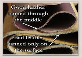 The full grain leather generally comes from better quality hide or skin. In  order to retain the quality of the leather, no sanding process is applied.