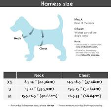 Petco Dog Collar Size Chart Adjustable Dog Harness No Pull Pet Harness Reflective Oxford Vest For Large Dogs
