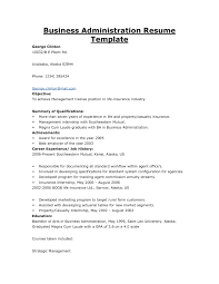 Sample Resume For Fresh Graduate Business Administration Without