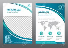 Coverpage Template Layout Flyer Template Size A4 Cover Page Curve Blue Tone Vector