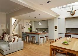 Modern Living Room Designs With Open Plan Kitchens Note Fire Under Kitchen And Living Room Open Plan