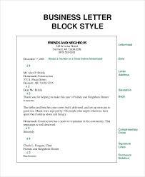 Business Letter Formatting Template Gorgeous Block Style Letter Template Personal Business Letter Format Block