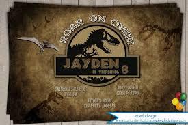 Jurassic Park Invitations Jurassic World Invitations New Dinosaur Birthday