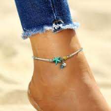2019 <b>Shell</b> Anklet <b>Pearl Beads</b> Starfish Anklets For Women Fashion ...