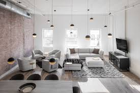 Lighting designs Architecture Décor Aid Suggested Contrasty Textured Neutrals Inspired By The Whitewashed Brick Besides The Main Colors Muted Taupes And Cloudy Grays Hgtvcom Industrial Dining Room Lighting Designs Shine In New York Loft