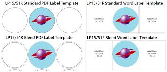 How To Use Bleed Label Templates To Add Backgrounds Borders