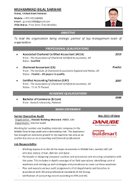 Cover Letter For Chartered Accountant Resume Cover Letter Format In Pakistan Copy Acca Resume Template Ssoft 32