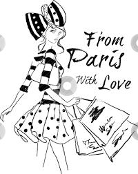 Illustration Fashion Girl Shopping Stock Vector