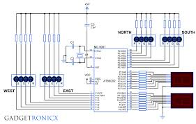 four way traffic light system using 8051 microcontroller and 7 four way traffic light system 8051 microcontroller
