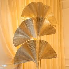 unique luxury gold palm leaf floor lamp