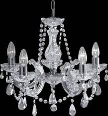 399 5 marie therese chrome 5 light chandelier with crystal droplets
