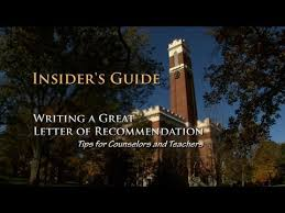 writing recommendation letter insiders guide to writing a great letter of recommendation youtube