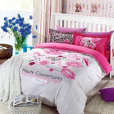 haute couvertures paris rose 5pcs soft cotton bedding set