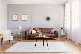 rug goes with a brown couch
