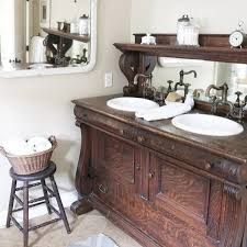 25 unique bathroom vanities made from furniture buffet with mirror farmhouse life on