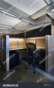 industrial style office. Empty Office Cubicle In An Industrial Style Space. A