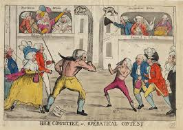 th century opera victoria and albert museum high committee or operatical contest haymarket theatre london late 18th to early 19th century coloured print