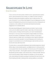 shakespeare in love analysis dk shakespeare in love analysis