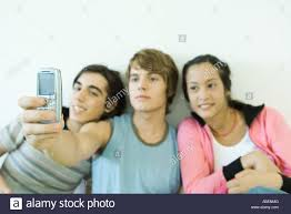 Teen cell phone self pics